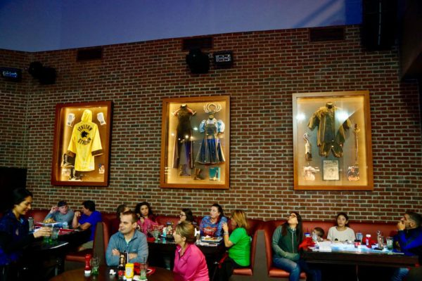 Planet Hollywood Observatory Review Dining Room Memorabilia