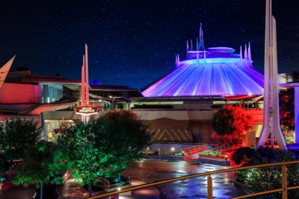 Space Mountain 40 Years at night