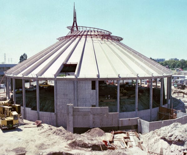 Space Mountain 40 Years construction photo