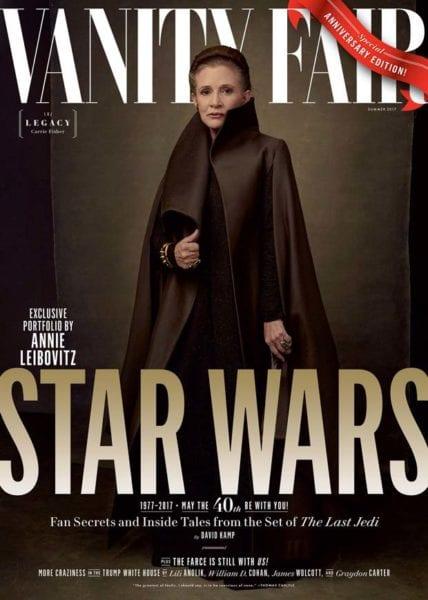 Carrie Fisher on Vanity Fair Star Wars