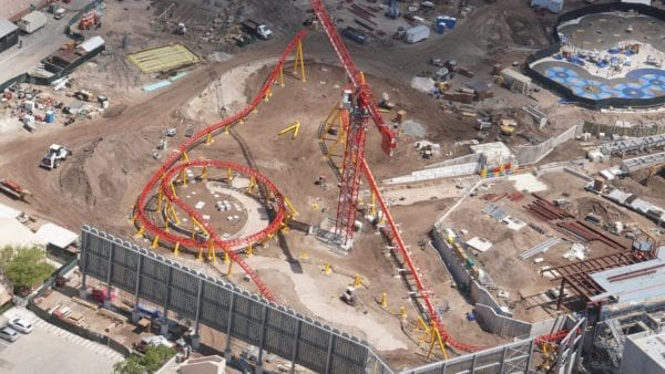 Toy Story Land Slinky Dog Dash Track being installed