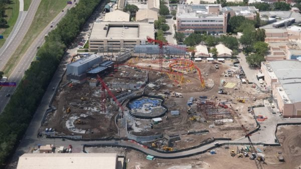 Toy Story land areal shot