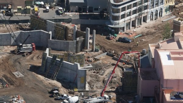 Star Wars Land AT-AT construction concrete walls