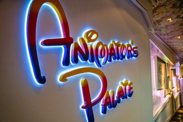 Animator's Palate Review Entrance Sign
