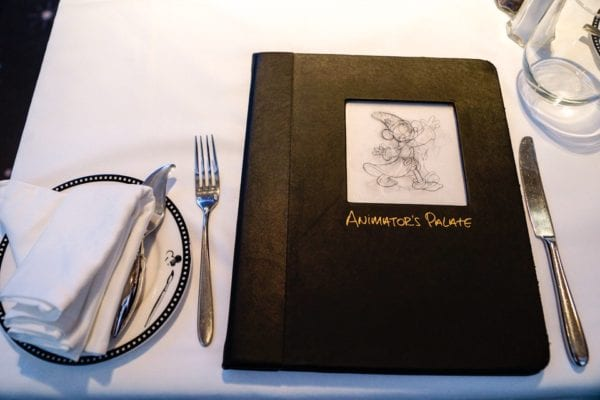 Animator's Palate Review Menu on Table