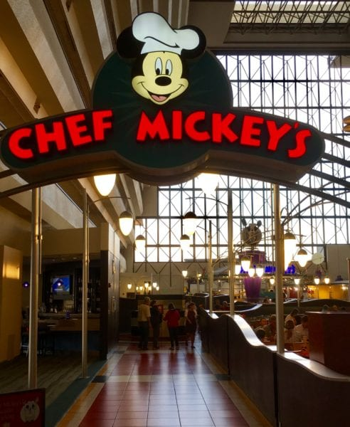 Chef Mickey's Changing Locations Temporarily