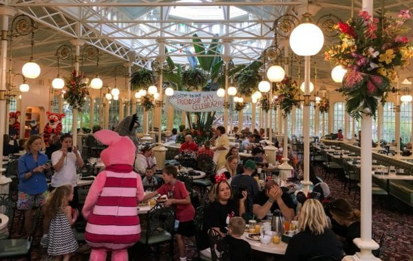 Crystal Palace Breakfast Review Characters in Dining Room