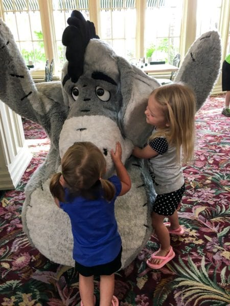 Crystal Palace Breakfast Review Eeyore with Babies
