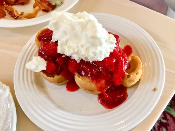 Crystal Palace Breakfast Review Mickey Waffles w/ Strawberries