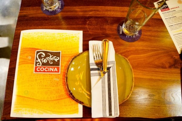 Frontera Cocina Review Place Setting and Menu