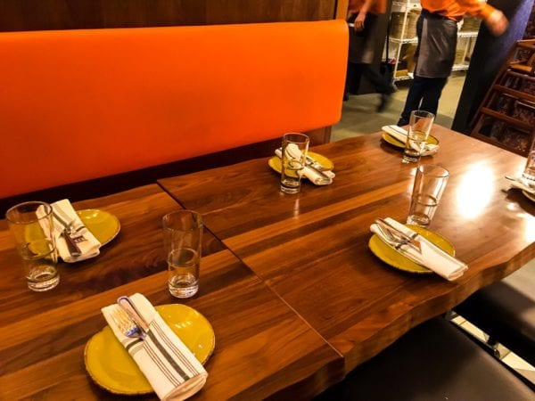 Frontera Cocina Review Table