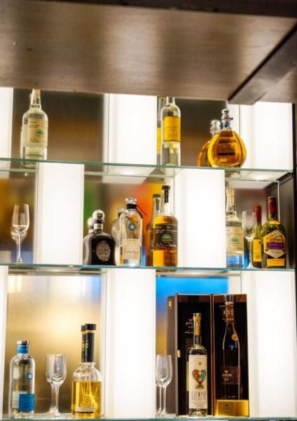 Frontera Cocina Review Glass Tequila Shelf