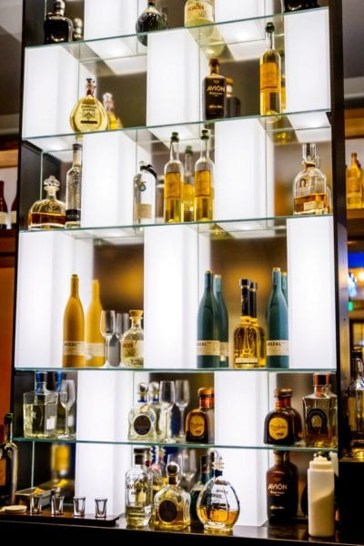 Frontera Cocina Review Glass Tequila Shelf 2
