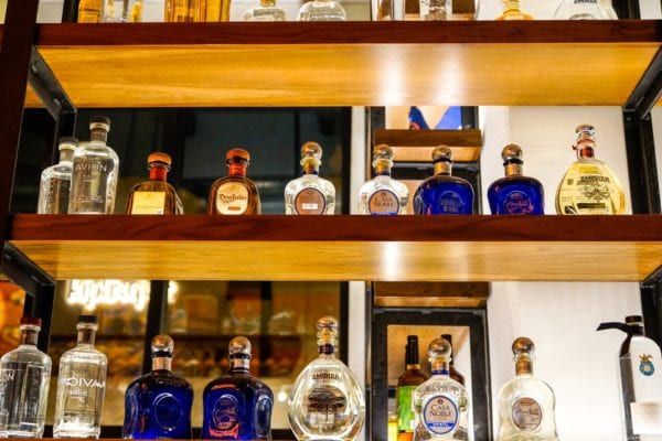 Frontera Cocina Review Tequila Shelf