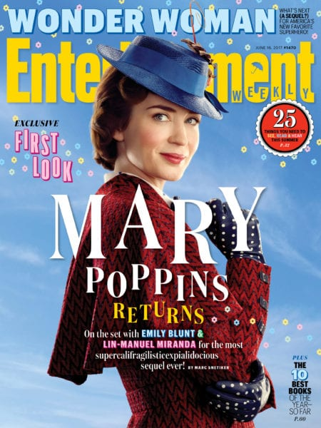 Images from Mary Poppins Returns entertainment weekly cover