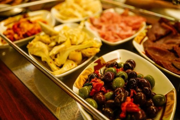 Palo Dinner Review Antipasti Cart with Olives