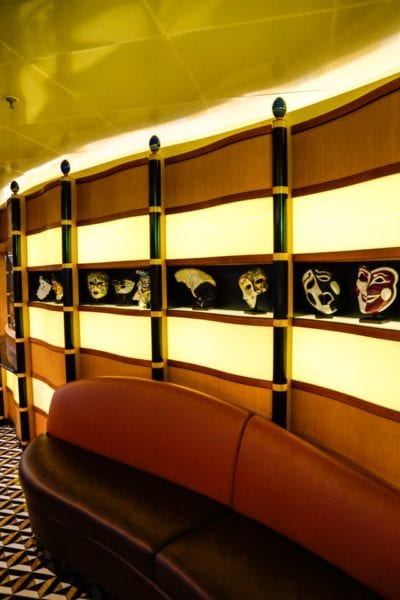 Palo Dinner Review Wall of Masks