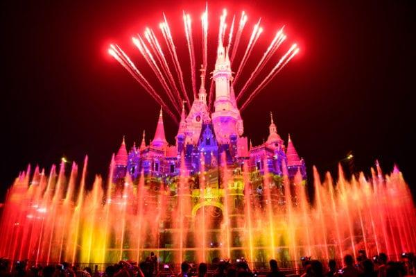 Shanghai Disneyland's First Anniversary nighttime fireworks
