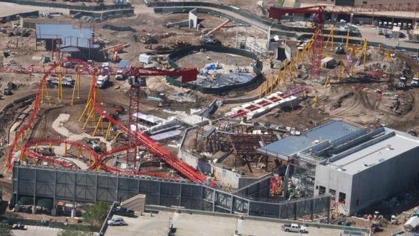 Star Wars Land AT-AT construction slinky dog dash
