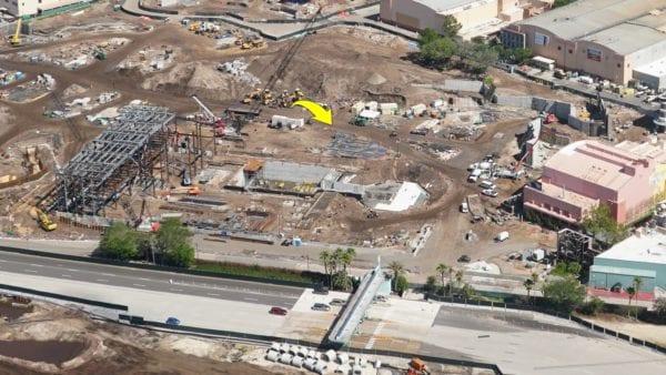 Star Wars Land AT-AT construction steel