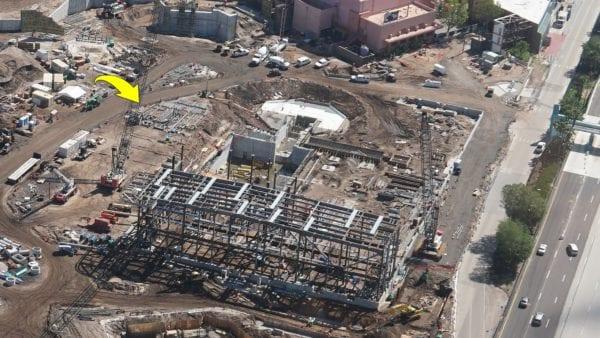 Star Wars Land AT-AT construction materials
