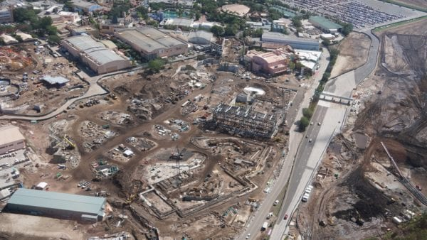 Star Wars Land AT-AT construction overview