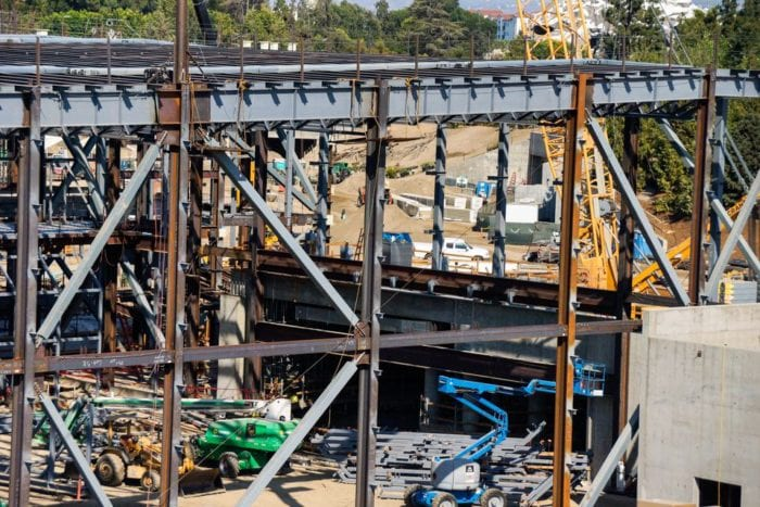 Star Wars Galaxy's Edge Construction first order building close