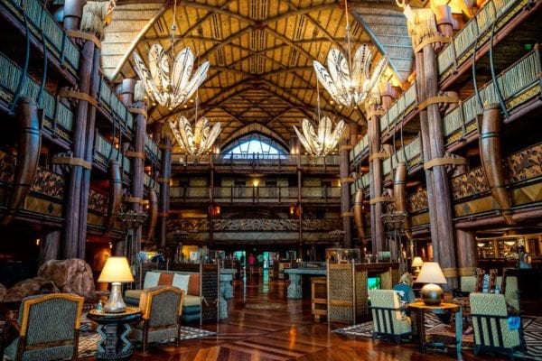 Stay in a Disney resort animal kingdom lodge
