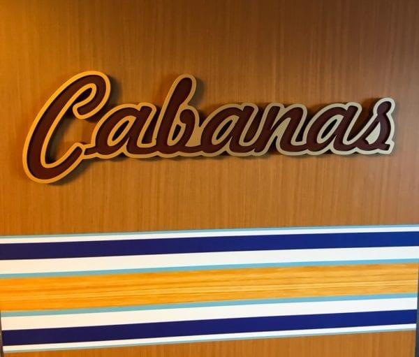 Disney Cruise Cabanas Entrance