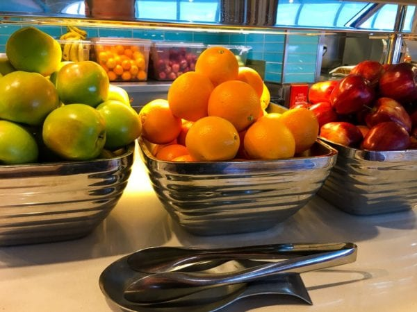 Disney Cruise Cabanas Breakfast Review Fruit