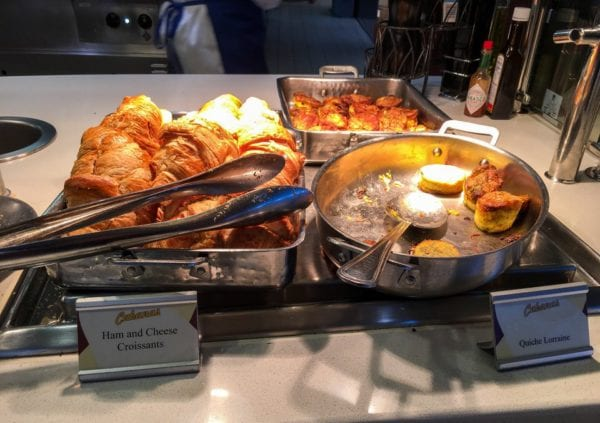 Disney Cruise Cabanas Breakfast Review Croissants and Quiche