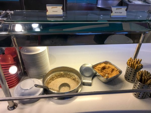Disney Cruise Cabanas Breakfast Review Oatmeal