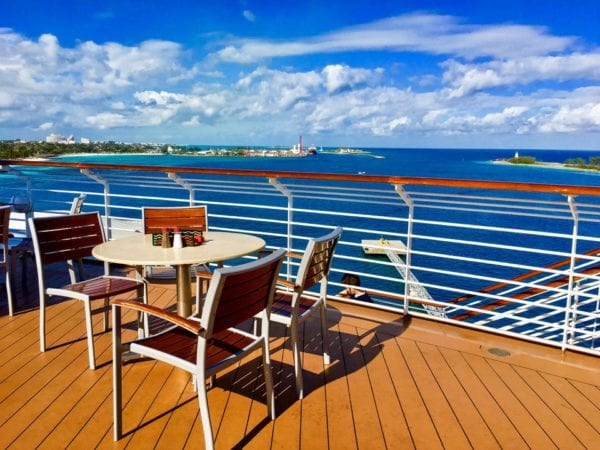 DisnDisney Cruise Cabanas Breakfast Review Outside Deck Table