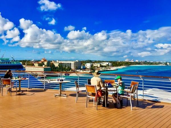 DisnDisney Cruise Cabanas Breakfast Review Outside Upper Deck