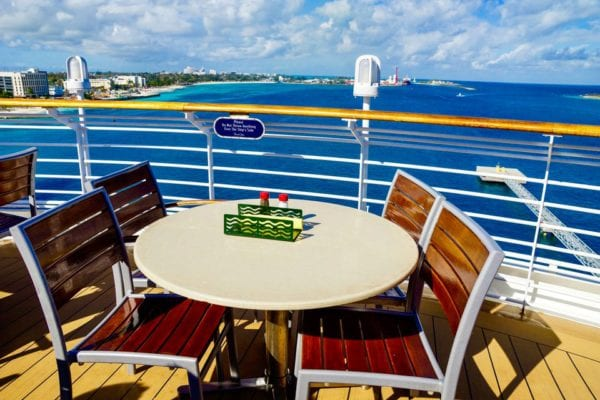 DisnDisney Cruise Cabanas Breakfast Review Outside Table