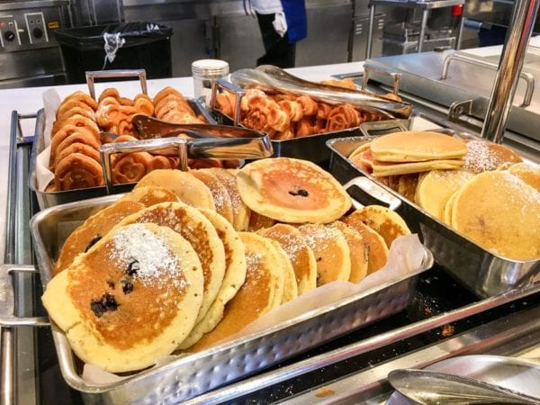 Disney Cruise Cabanas Breakfast Review Pancakes and Mickey Waffles