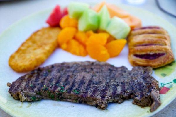 DisnDisney Cruise Cabanas Breakfast Review Steak