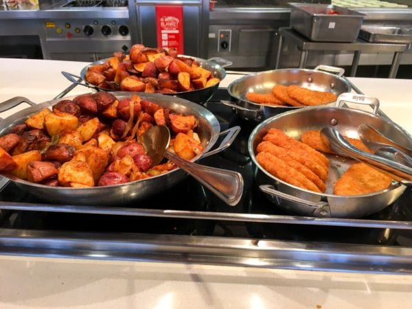 Disney Cruise Cabanas Breakfast Review Roasted Potatoes and Hash Browns