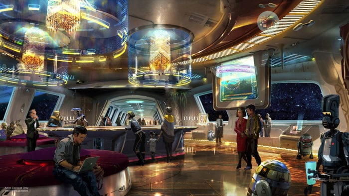 Star Wars Themed Resort lobby