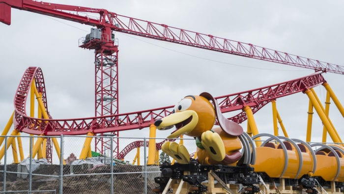 VIDEO: Slinky Dog Dash Coaster Ride Vehicle Arrives at Hollywood Studios