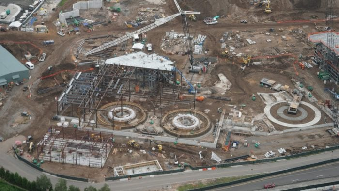 Millennium Falcon Ride Progress new ride circles