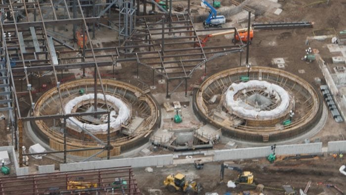 Millennium Falcon Ride Progress close