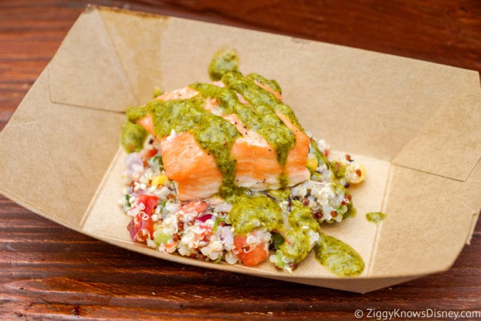 Active Eats Review: 2017 Epcot Food and Wine Festival Roasted Verlasso Salmon