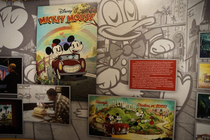 Mickey and Minnie's Runaway Railway Display center panels