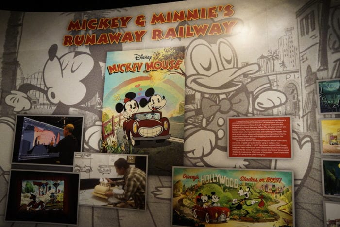 Mickey and Minnie's Runaway Railway Display