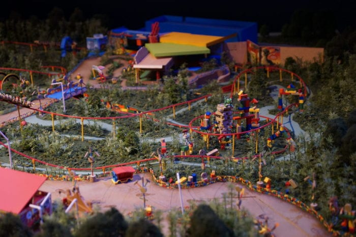 Toy Story Land Model slinky dog dash