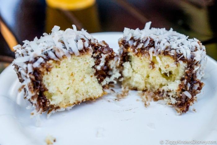 Australia Review 2017 Epcot Food and Wine Festival Lamington Yellow Cake