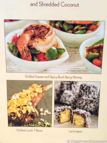 Australia Review 2017 Epcot Food and Wine Festival menu pics