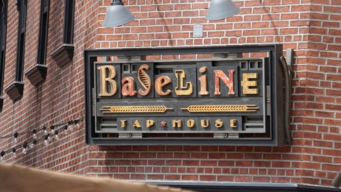Grand Avenue Construction baseline tap house sign