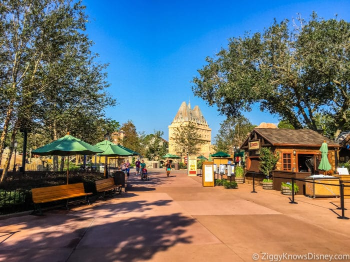 Canada Review 2017 Epcot Food and Wine Festival Canada pavilion walkway